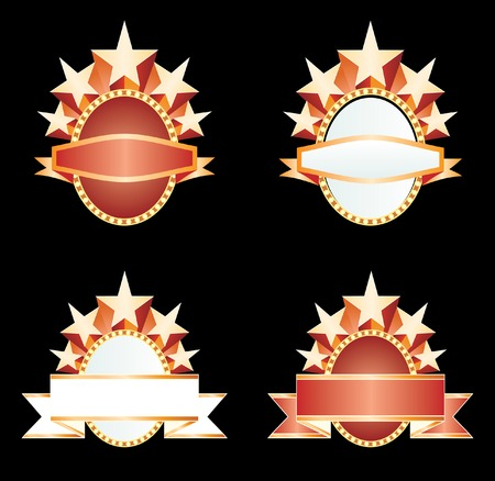 vector blank banners with stars Stock Vector - 4115736