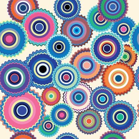 vector floral seamless repeating wallpaper Vector