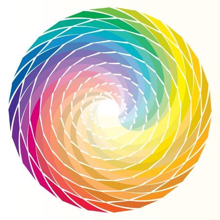 chromatique: vecteur spirale arc en ciel