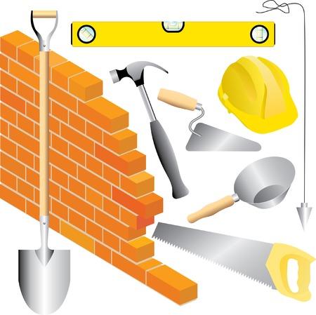 vector mason tools Stock Vector - 4115748