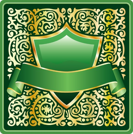 vector green label for vaus products Stock Vector - 4134293