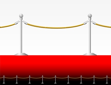 rope barrier: vector fence of the red carpet Illustration