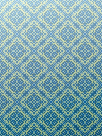 vector seamless repeating blue wallpaper Stock Vector - 4159436