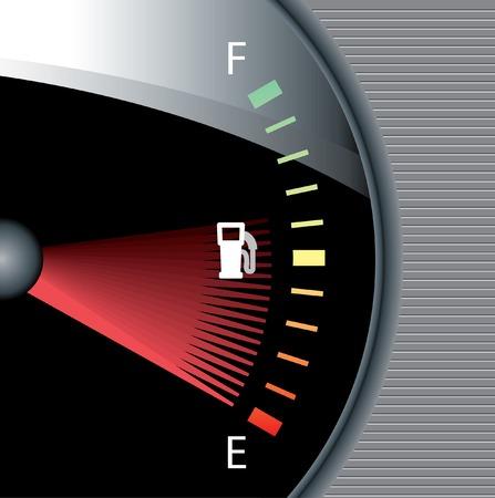 car display: vector fuel watch