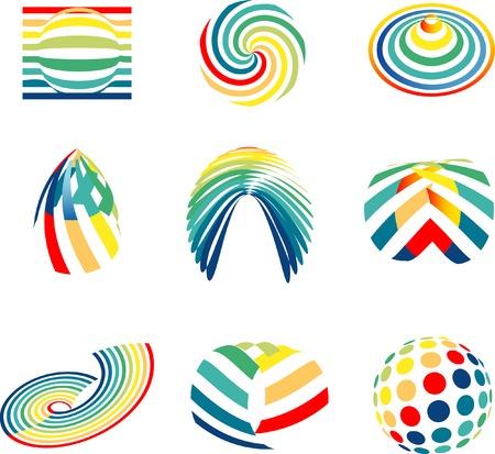 dynamic movement: signos abstractos para empresas de varios