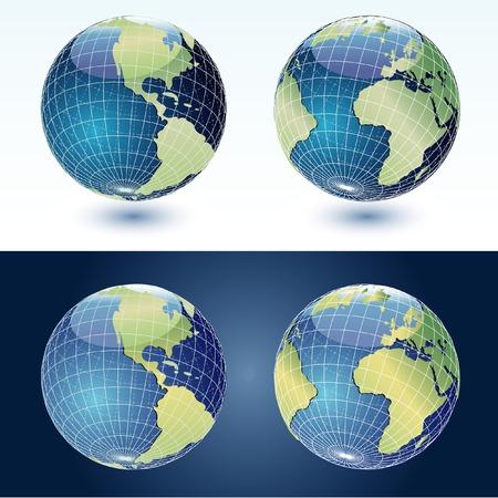 vector globes Stock Vector - 4159448