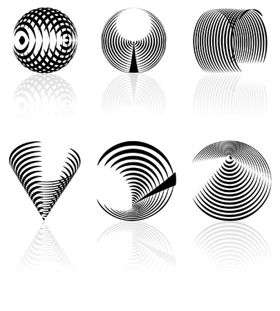 vector black and white abstract signs Vector