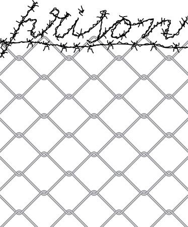 no trespassing: vector symbolic illustration