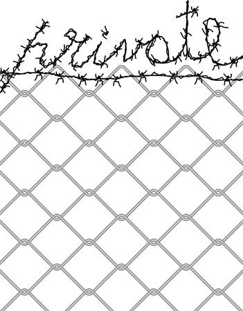 no trespassing: vector simbolic illustration