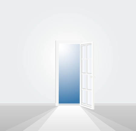 vector illustration of the white room Vector