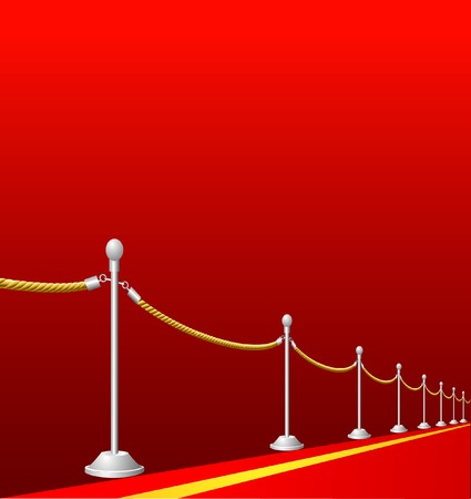 prestige: vector background with red carpet