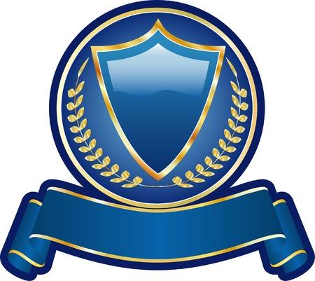 vector blank blue medallion Vector