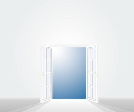 vector empty white room Vector