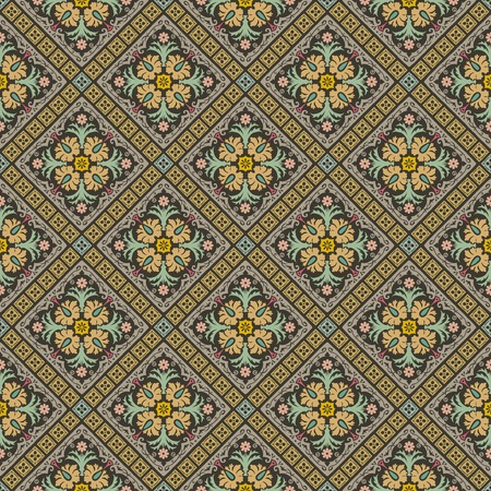 seamless repeating wallpaper- colored  Vector