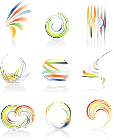 panache: vector abstract signs Illustration