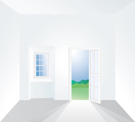 vector illustration of the white room Stock Vector - 4206136