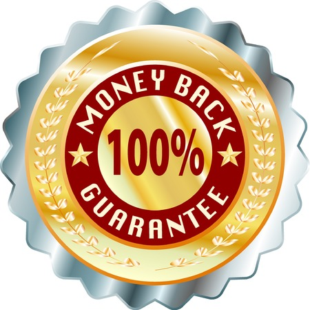 money back: vector label for money back