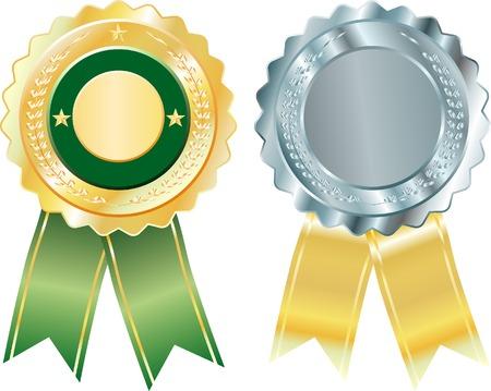 vector blank badges Stock Vector - 4272492
