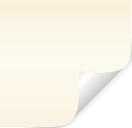 vector blank sticky memo paper Vector