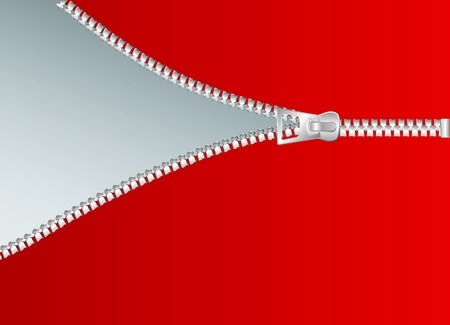 vector illustration of the zipper Vector