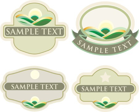 vector labels for natural products Stock Vector - 4311152