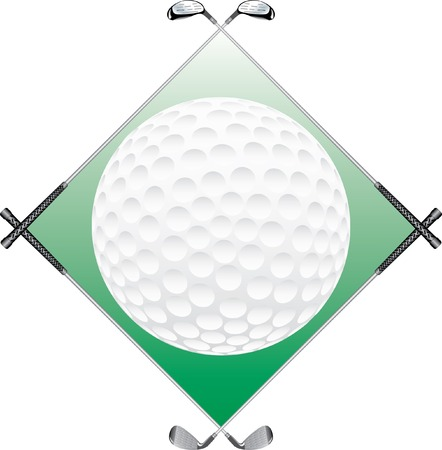 vector background with golf irons and ball Vector
