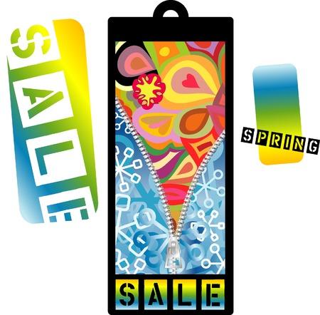 vector spring sale color tag Vector