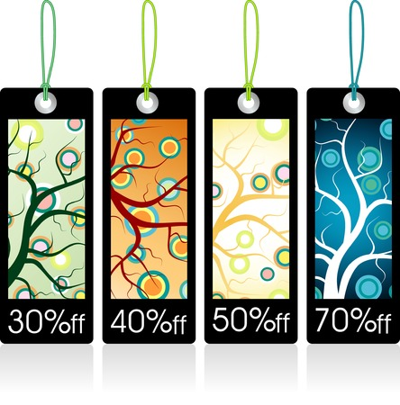 vector tags for four seasons Vector