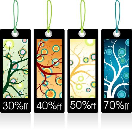 vector tags for four seasons