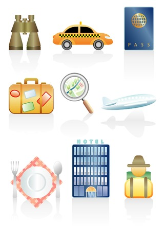 vector illustrations for touristic traveling Vector