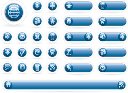 vector icons for web and computing Vector
