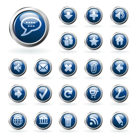 vector buttons for web and computing Vector