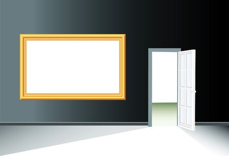 vector golden frame for your text or image in separate layer Stock Vector - 4614184