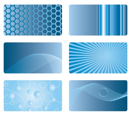 combs: vector abstract bacgrounds for business cards etc.