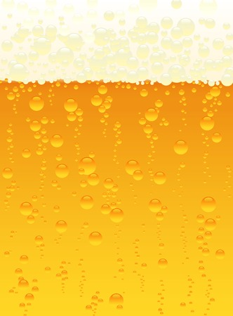 vector illustration of the beer bubbles