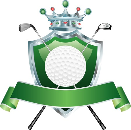 vector shield with golf ball Stock Vector - 4728215