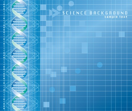 vector background with DNA graph Vector