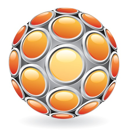 vector abstract sphere with buttons Vector
