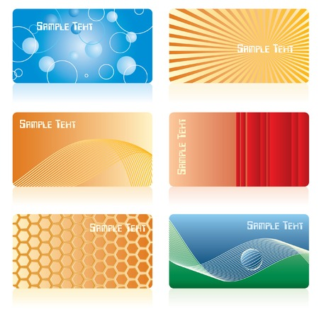 separate: vector backgrounds for business cards with sample text in separate layer
