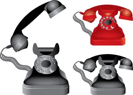 vector illustration of the classic phone Vector