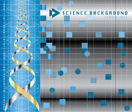 vector abstract background with DNA graph