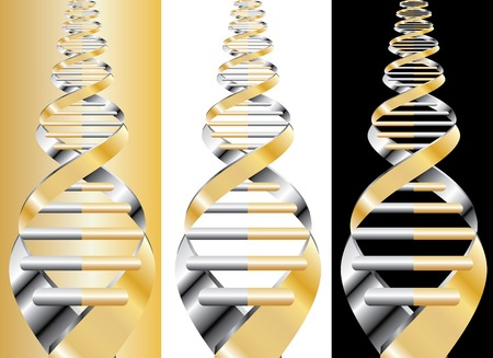 vector abstract DNA curve on different backgrounds Vector