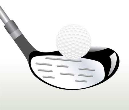 vector illustration with golf ball in three layers Vector