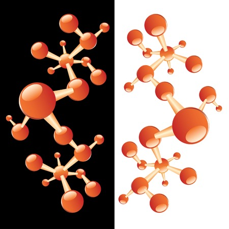 vector illustration with abstract molecule Stock Vector - 4908532