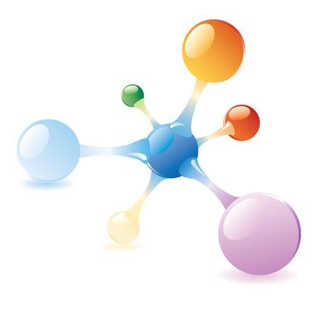 vector abstract molecule Stock Vector - 4908529