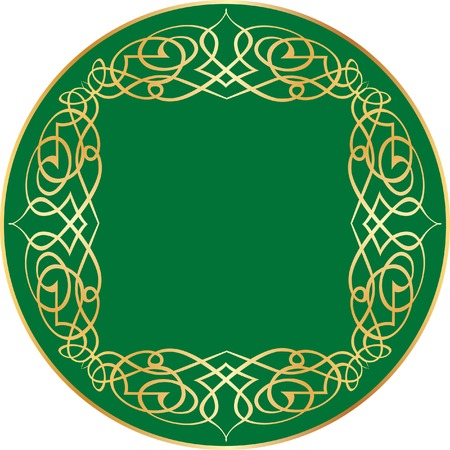 vector label with orient ornament Illustration