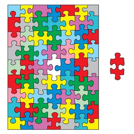 vector editable puzzle Vector