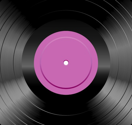 vector detailed illustration of the LP record Vector