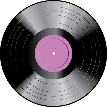 vector LP record with blank label