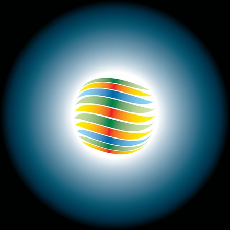vector illustration of the abstract eclipse Stock Vector - 4994986